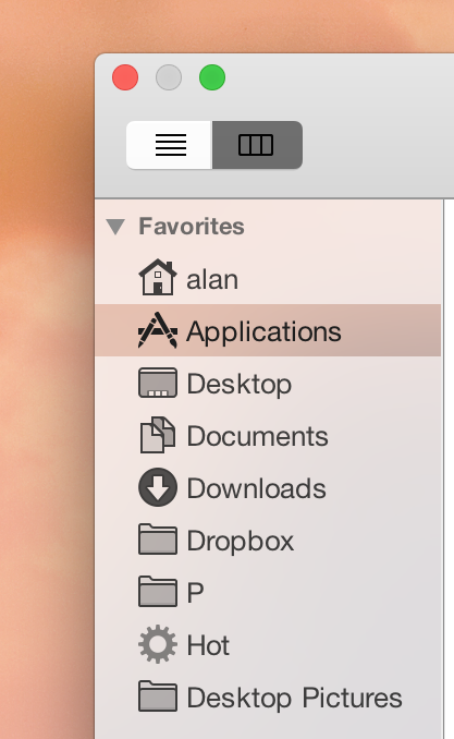 file chooser vibrant sidebar